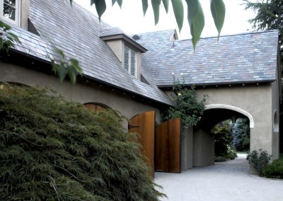 Woodside House Driveway New Construction