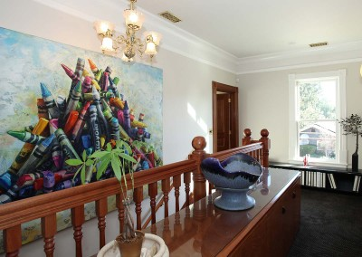Los Gatos Construction Perrin House Stairway Artwork